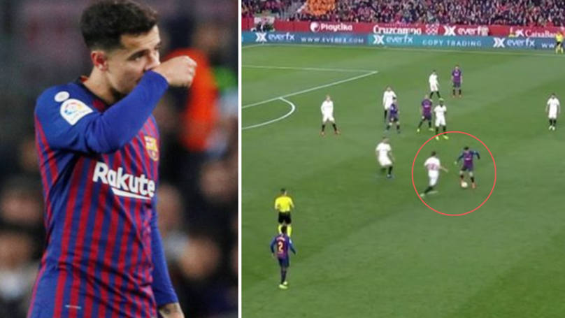 Philippe Coutinho Heavily Criticised After He Causes Barcelona To Concede