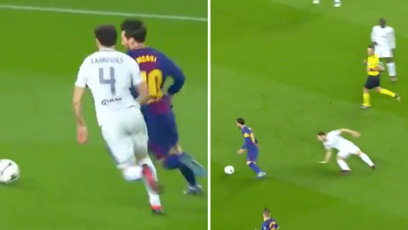 The Moment Lionel Messi Sent Cesc Fabregas Back To Arsenal Without Even Touching The Ball