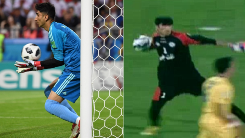 Iran Goalkeeper Alireza Beiranvand Has The Longest Throw In Football