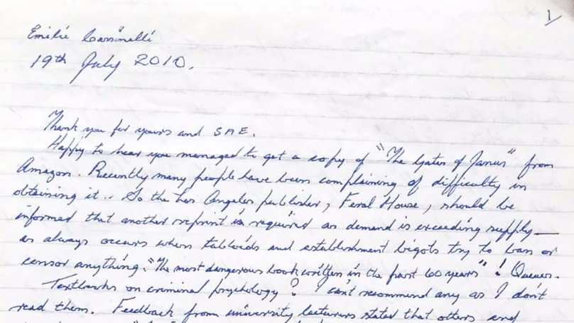 Psychologist Hopes To Decipher 'Secret Messages' In Ian Brady's Letters