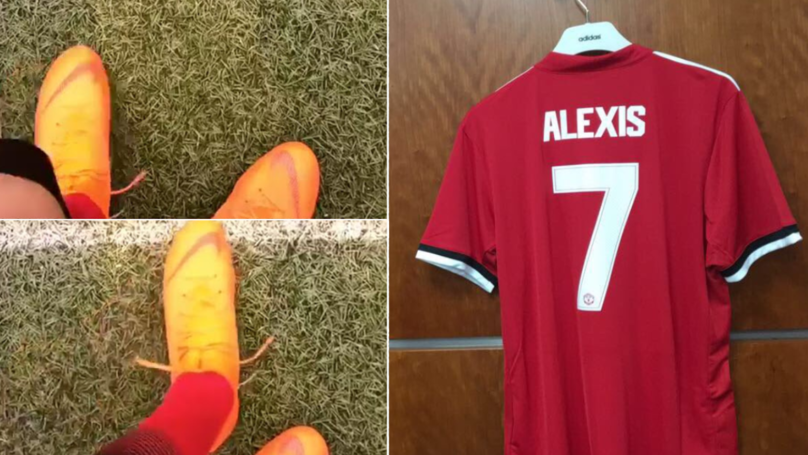 Alexis Sanchez Just Leaked Part Of Manchester United's 18/19 Home Kit
