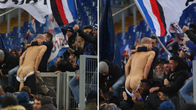 Riccardo Saponara Scores 99th Minute Equaliser, He And Sampdoria Fans Enjoyed It A Bit Too Much