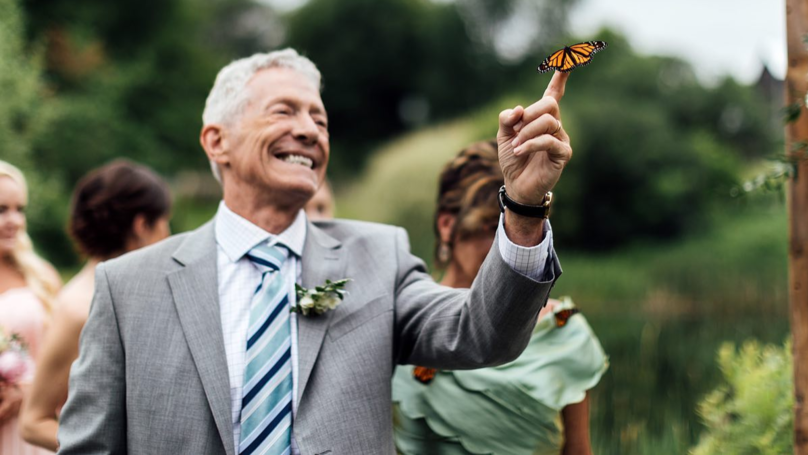 Butterfly Lands On Dad's Hand As He Honours Late Daughter