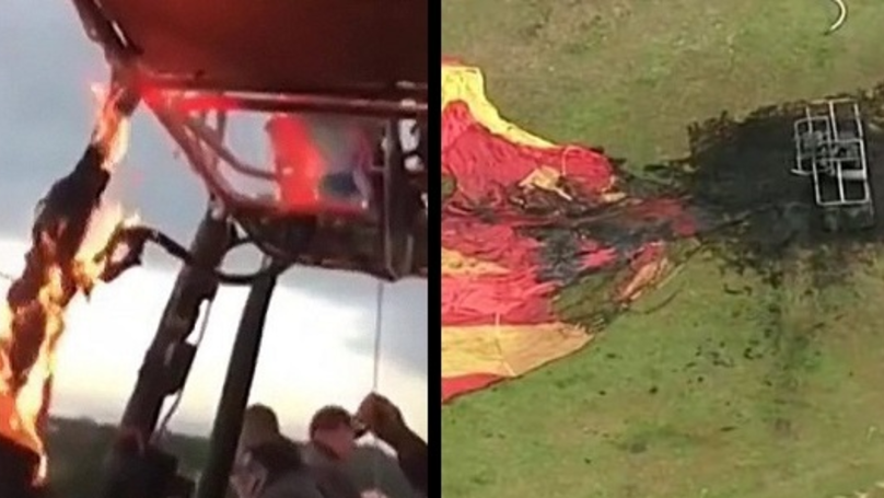 Hot Air Balloon Carrying 16 Passengers Catches Fire In Mid Air