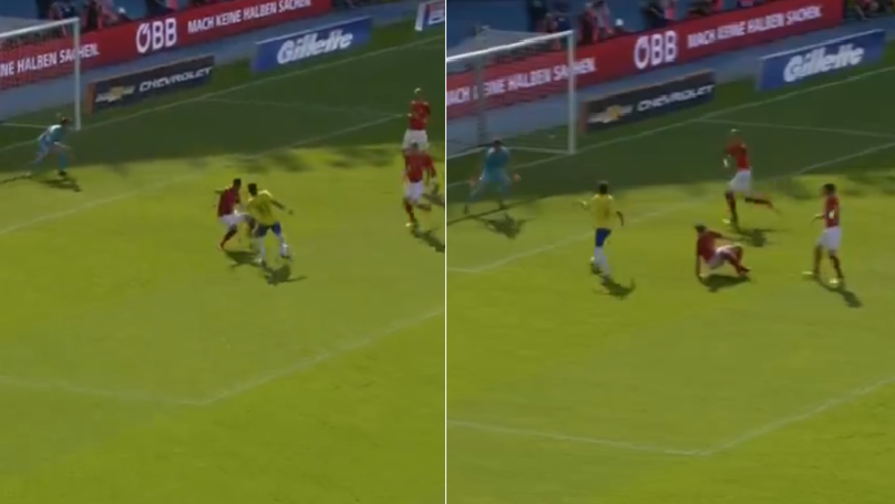 Watch: What Neymar Did To Austrian Defender Should Genuinely Be Illegal