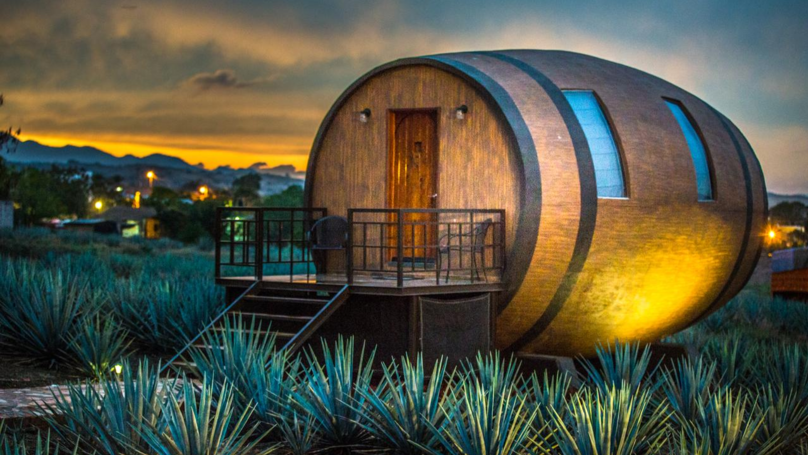 There's A Tequila Themed Hotel In Mexico Where Guests Sleep In A Giant Barrel