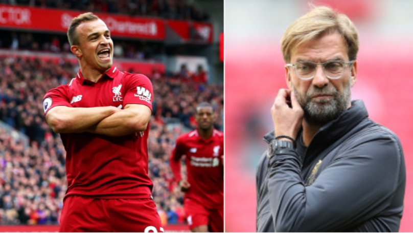 What Jurgen Klopp Did For Xherdan Shaqiri At Half-Time After Subbing Him Is Class