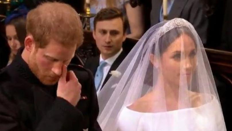 Royal Wedding 2018: Prince Harry Wipes Away Tears As He Weds Meghan Markle