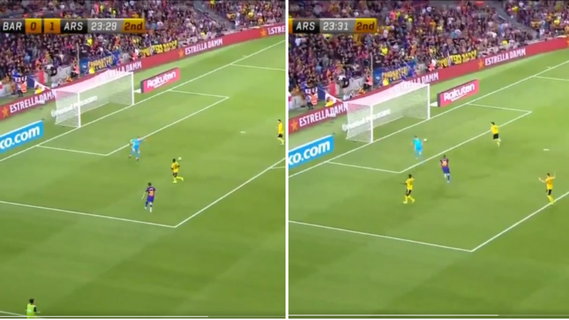 Arsenal's Ainsley Maitland-Niles Scores Hilarious Own Goal Versus Barcelona