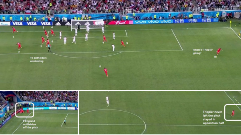 There's A Very Good Reason Why Kieran Trippier Didn't Celebrate After Harry Kane's 91st Minute Goal