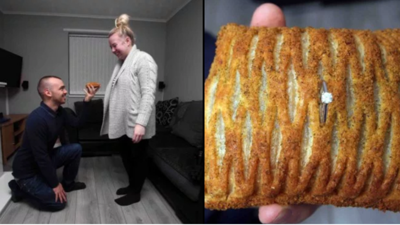 Man Spoils Fiance With A Festive Bake After Proposing Outside Greggs