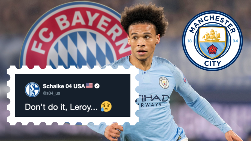 Schalke Send Out Amusing Plea For Leroy Sané Not To Join Bayern Munich