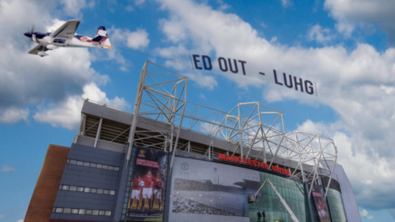 A Plane Will Fly Over Turf Moor With 'Ed Out' Banner Attached