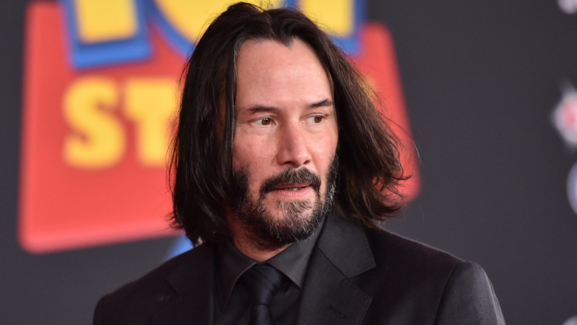 Keanu Reeves Autographs Fan's Sign On Way To Bill And Ted Set