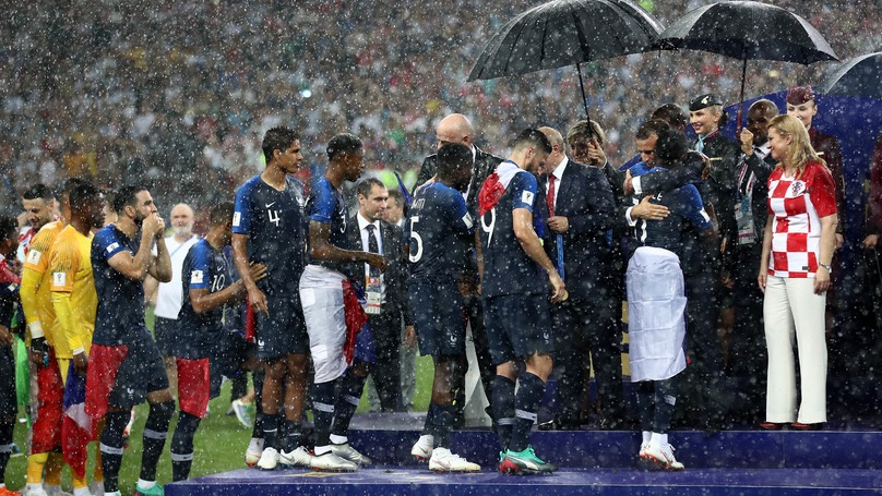 Everyone Got Soaked At The World Cup Final, Except Vladimir Putin