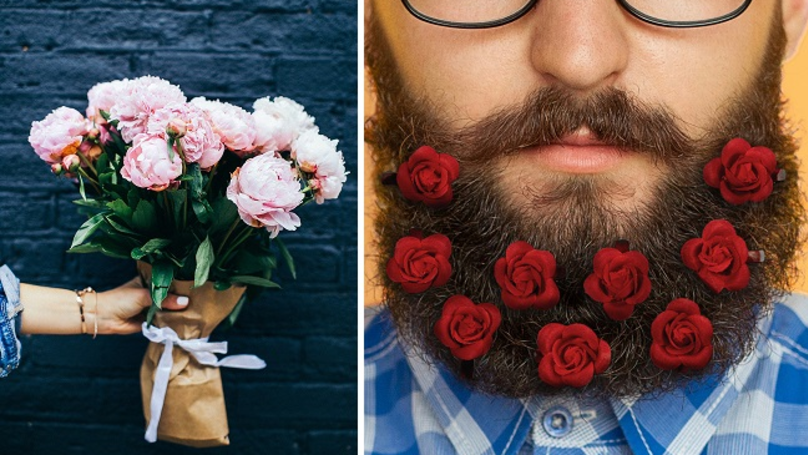 Beard Bouquets Are The Ultimate Valentine's Day Accessory