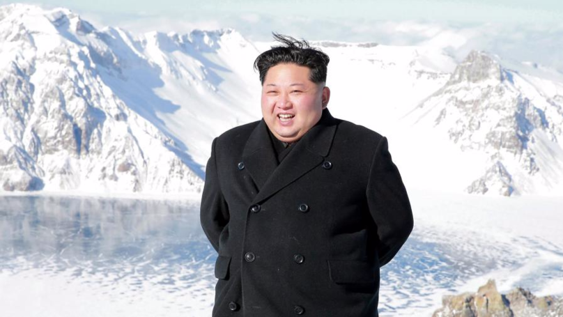 North Korean Leader Kim Jong Un Controls Weather While Hiking Up 2,774 Metre Mountain