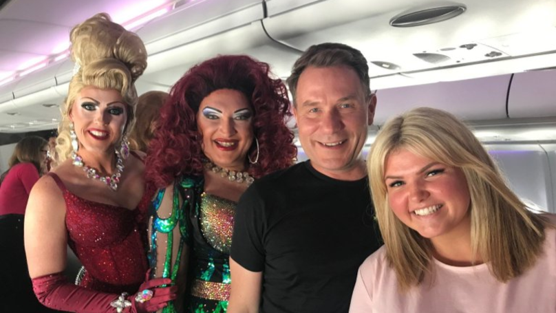 Family Have The Time Of Their Lives After Accidentally Booking 'Pride Flight'