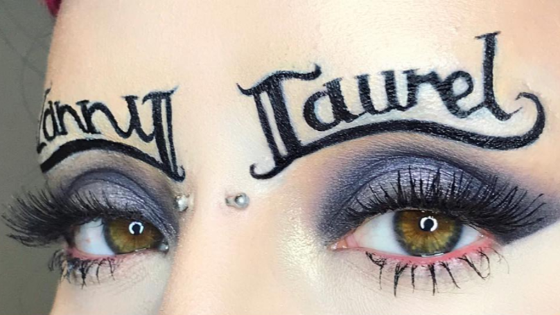 Someone Has Turned The Yanny Laurel Debate Into Eyebrow Art