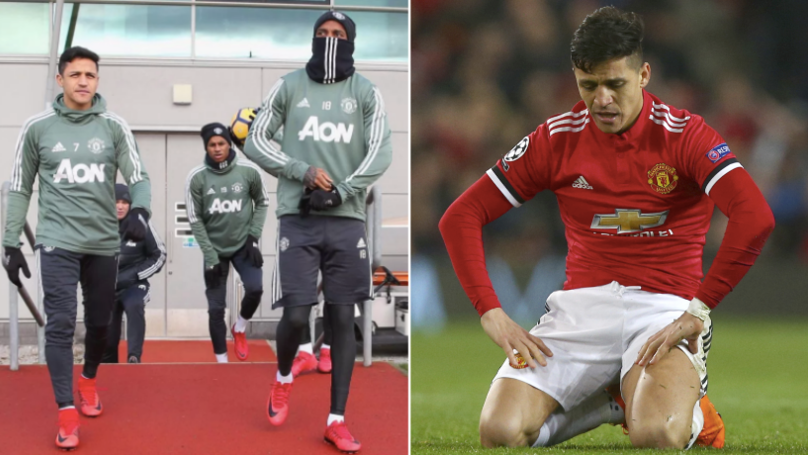 Alexis Sanchez Eats Alone In Manchester United Canteen For A Very Good Reason