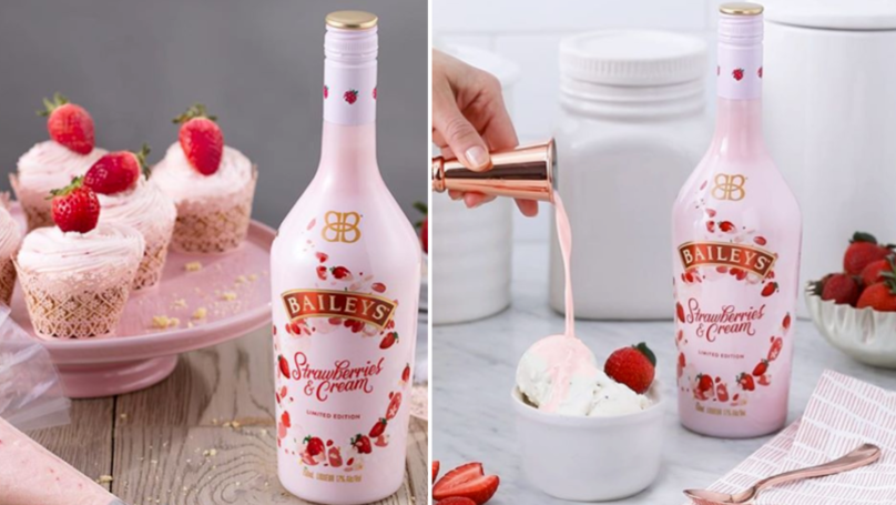 Asda Is Officially Selling The Limited Edition Strawberry And Cream Baileys
