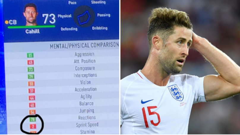 Gary Cahill's Sprint Speed Went Down To 2 On Someone's FIFA 19