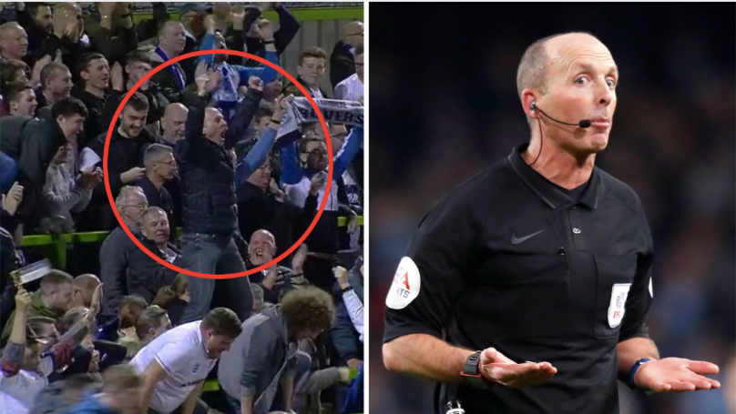 Mike Dean Goes Wild And Turns Into Tranmere Ultra After Reaching Play-Off Final