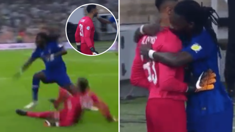 Al Ahli Goalkeeper Wants Beef With Bafetimbi Gomis, He Responds By Hugging Him