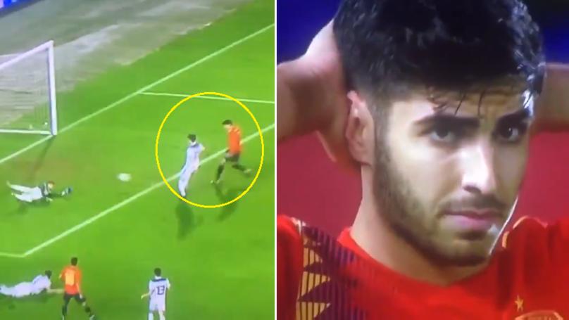 Chelsea's Alvaro Morata Misses Open Goal, Marco Asensio Can't Believe It