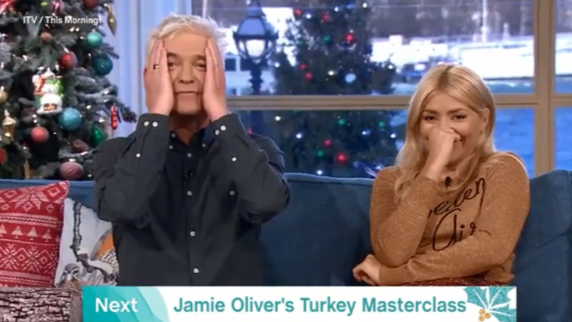 ​Holly Willoughby Absolutely P****s Herself Over Massaging And Stuffing A Turkey