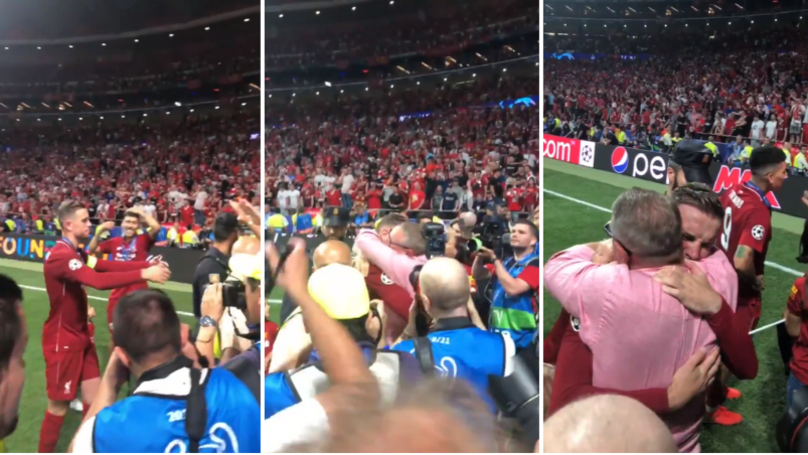 Jordan Henderson Shares Tearful Embrace With Dad After Winning Champions League
