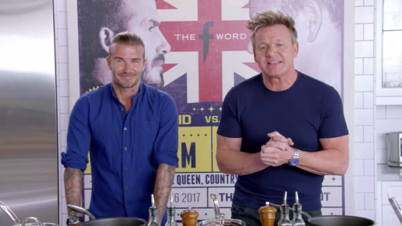 David Beckham Shares Terrifying Mashup Of His Face With Gordon Ramsay's