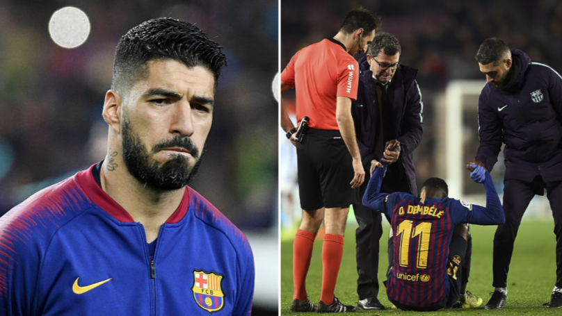 Luis Suarez Could Miss Champions League First Leg Versus Manchester United
