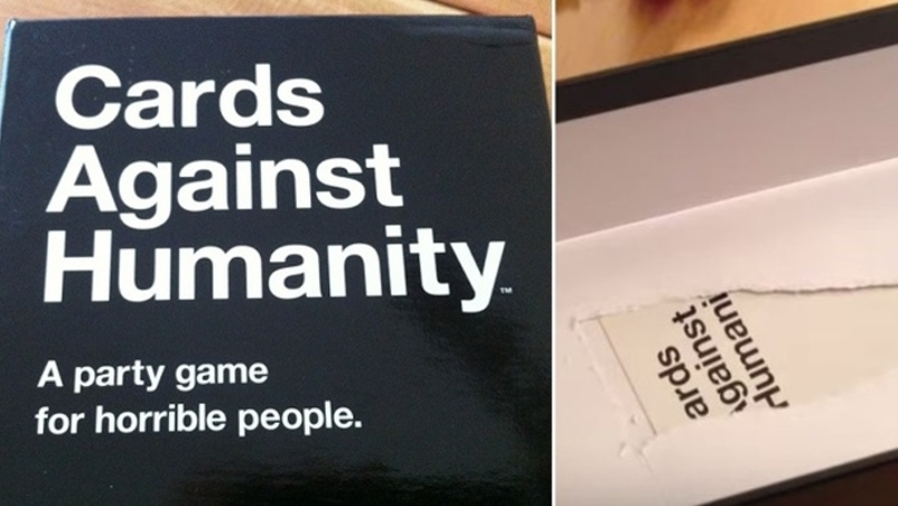 There's A Hidden 'Cards Against Humanity' Card In The Box Itself - LADbible