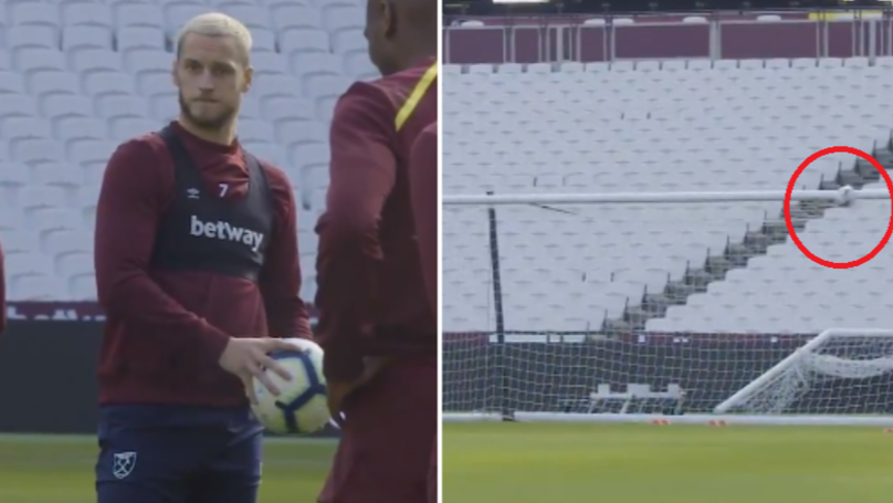 Limping Marko Arnautovic Hits Crossbar With Sublime Strike In West Ham Training