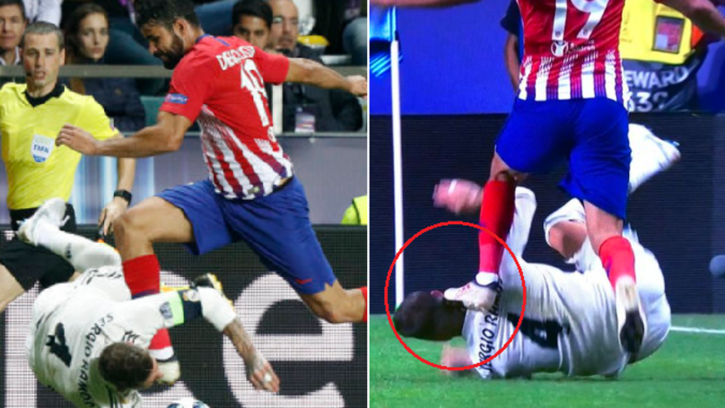 Diego Costa Dribbled Sergio Ramos' Head Like A Ball