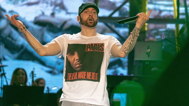 "Eminem Hits Back At ""Easily Frightened"" Fans After Bonnaroo Gunshot Controversy"