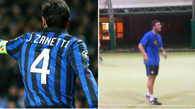 Inter Milan Legend Javier Zanetti Turns Up For A Five-A-Side Game