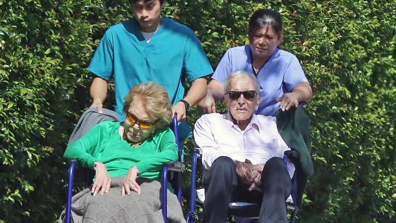 Kirk Douglas And Wife Remain Inseparable On Day Out