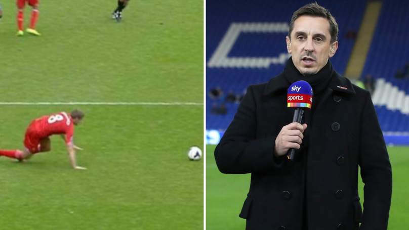 Gary Neville Gives His Honest Verdict On Steven Gerrard's Infamous Slip Against Chelsea