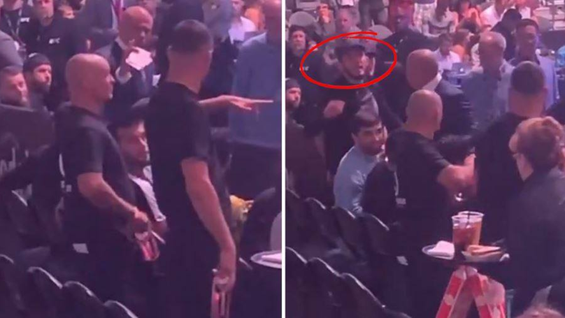 Nate Diaz And Khabib Nurmagomedov Clashed In A Cageside Altercation At UFC 239