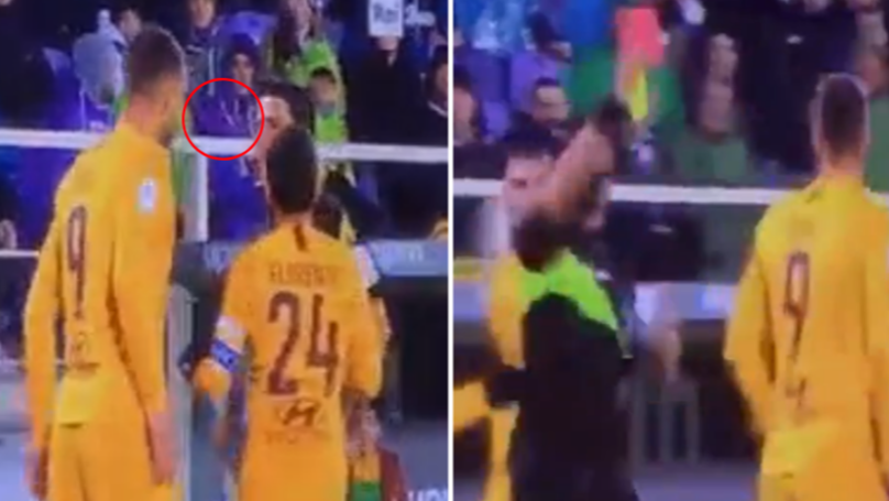 Edin Dzeko Sent Off For Spitting In Referee's Face In 7-1 Defeat To Fiorentina