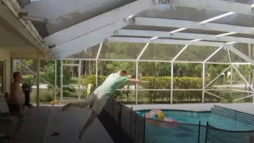 Dad Does 'Superman Jump' Into Pool To Save One-Year-Old Son