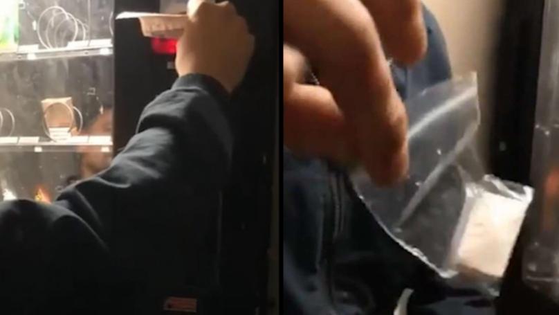 Vending Machine Dispenses Bag Of White Powder Hidden In Crisp Packet For £50