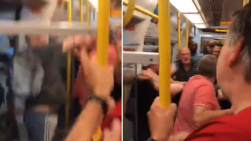Liverpool And Manchester City Fans Fight On London Tube Train Ahead Of Community Shield