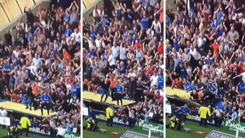 Rangers Fans Break Disabled Section Roof In Wild Celebrations After Late Winner