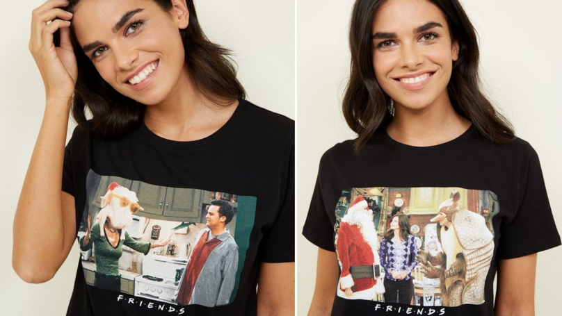 New Look Is Selling Christmas T-Shirts Printed With Iconic Festive Friends Moments