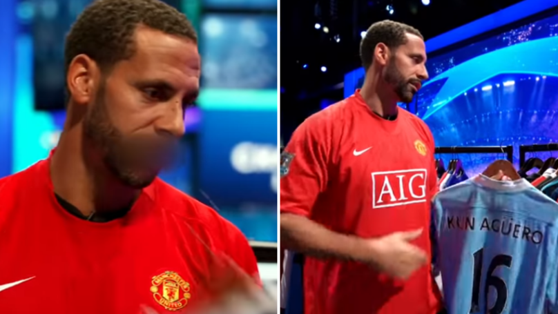 Rio Ferdinand Shows How Much He Hates Sergio Aguero's Shirt