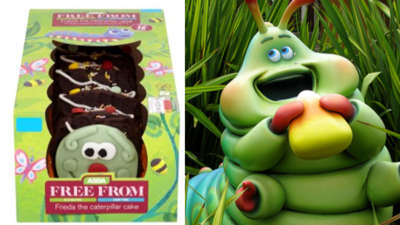 Character Birthday Cakes Asda ~ Asda is now selling a gluten and dairy free caterpillar cake