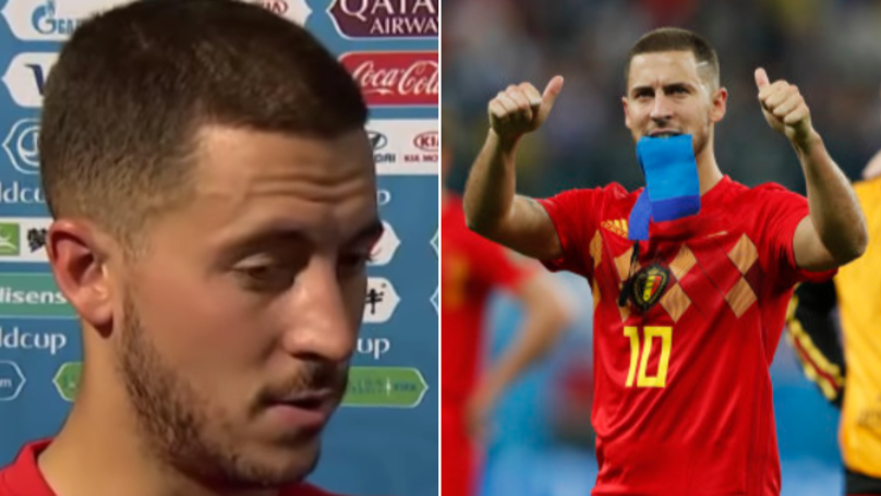 Eden Hazard Reacts Badly When Asked About France's Victory